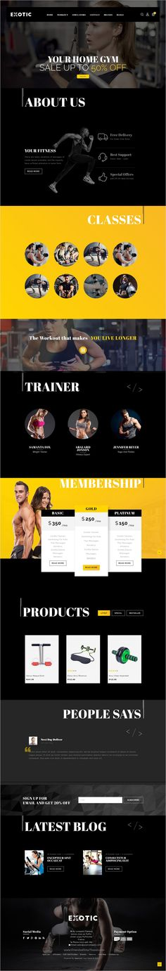 Exotic is a beautiful SEO optimized 2 in 1 #OpenCart #Theme for fitness gym, Health #club, #sport club and swimming store websites download now➩ https://themeforest.net/item/exotic-multipurpose-opencart-theme/18609744?ref=Datasata