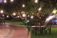 Tswana garden wedding set up
