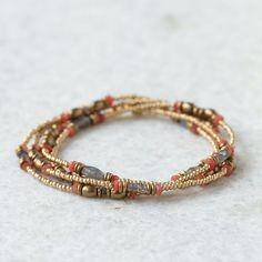 Stone Bead Wrap Bracelet in Spa+Accessories JEWELRY Bracelets+Rings at Terrain