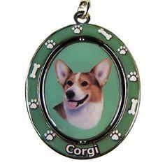 Welsh Corgi Dog Spinning Keychain