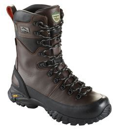 "These innovative, rugged hunting boots were developed and tested with the help of Maine's Game Wardens. They spend more hours in the Maine woods than just about anyone, so they know how a boot must perform to ensure comfort, protection and dry feet. For half sizes not offered, order up to next whole size. Best fit with midweight socks. Rugged leather upper is super-durable and highly supportive. GoreTex waterproof, breathable protection keeps your feet dry and comfortable. 10"" boot height…"