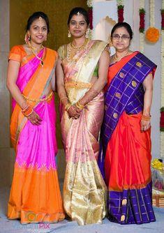 Bridal Sarees South Indian, Indian Sarees, Indian Wedding Makeup, Aunty In Saree, Saree Models, Latest Sarees, Half Saree, Indian Beauty Saree, Indian Designer Wear