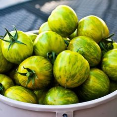 Green Zebra Tomato - Everyone should grow these in their garden at least once. Gorgeous tomato with a unique taste!