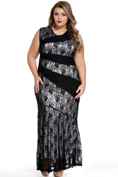 Try latest Chicloth Black St.... http://chicloth.com/products/chicloth-black-stylish-lace-splice-plus-size-mermaid-prom-dress?utm_campaign=social_autopilot&utm_source=pin&utm_medium=pin