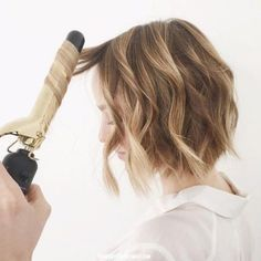 the trick for turning curls into waves!!