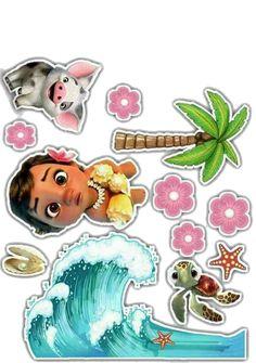 Moana Party, Moana Themed Party, Moana Theme Birthday, 2nd Birthday Parties, Moana Hawaiian, Festa Moana Baby, Paper Dolls, Party Themes, Hani