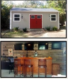 Backyard Man Cave Shed