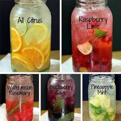 Great flavored water ideas