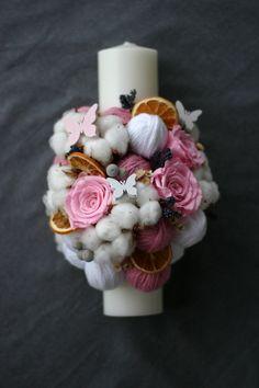 Flowers of Soul Diy Flowers, Paper Flowers, Flower Diy, Pillar Candles, Christening, Decorative Candles, Handmade, Wedding, Candles