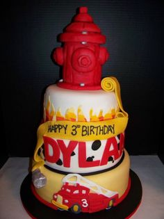 Fire Hydrant Birthday Cake | Shared by LION