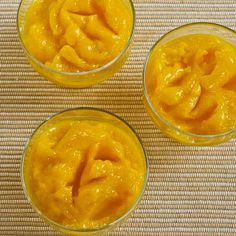 Recipe for Low-Sugar Mango Sorbet (without an ice-cream freezer) [from Kalyn's Kitchen] #SouthBeachDiet #GlutenFree #Vegan