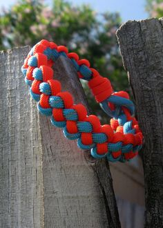 1 or 2 Color Paracord Survival Bracelet in by LoCoDesignsOnline, $7.00