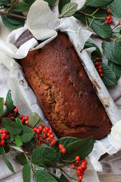 Coffee, date and walnut loaf cake.