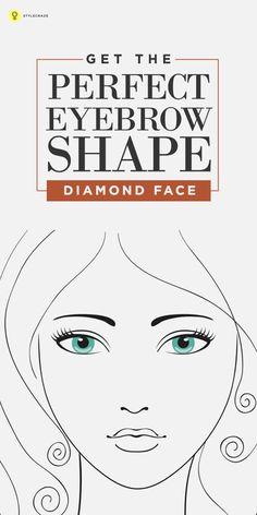Amazing 5 Perfect Eyebrow Shapes For Diamond Shaped Face Shape Perfect Short Hairstyles Gunalazisus
