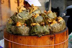 Beijing Street Food... Fried Chicken Wrapped in Lotus leaf  #Expo2015#Milan #WorldFair