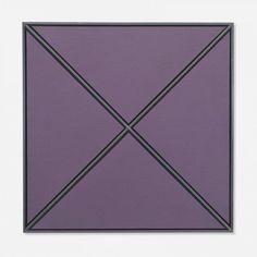 Tadaaki Kuwayama - executed in 1966, acrylic on canvas mounted on masonite with steel strips,  57 x 57 cm
