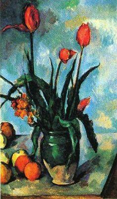 Paul Cezanne 'Tulips in a Vase'