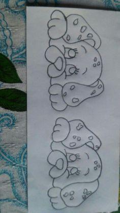 40 Creative Drawing Ideas and Topics for Kids Pencil Art Drawings, Art Drawings Sketches, Cute Drawings, Applique Patterns, Applique Designs, Quilt Patterns, Baby Embroidery, Hand Embroidery Designs, Kids Canvas Art