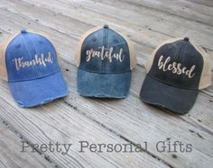 b926f77fbcfaa Monogram Trucker Hat - distressed with tan mesh back - distressed baseball  hat - embroidered 12 hat colors