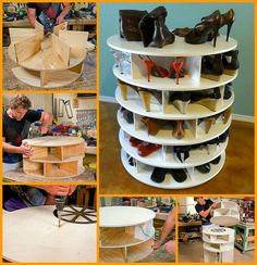Shoe storage; pretty clever idea!