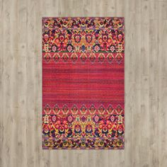 Bungalow Rose Red Area Rug
