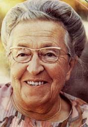Corrie ten Boom, a Dutch Christian, who hid Jews during the Holocaust. She was later arrested and sent to a concentration camp. She survived to write about it in The Hiding Place (her sister Betsy did not).