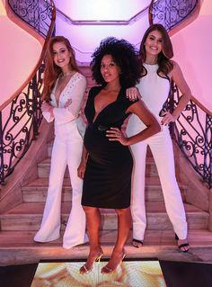 Marina Ruy Barbosa, Sheron Menezzes e Camila Queiroz posam em evento na Casa Pantene