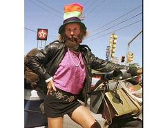 Leslie Cochran-(June 24, 1951 – March 8, 2012) Austin Tx's flesh-flashing, cross-dressing, attention-loving, frequently homeless mascot, unofficial ambassador and sometimes mayoral candidate.