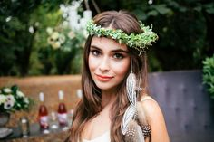Foliage Inspired Styled Shoot. Florals: Seventh Stem  Make Up: Carrie Hamm Photography: Nikie Rhodes Stylist: Mandy Riggar