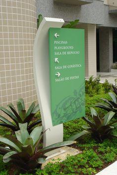 Wayfinding - Totem sign - Residencial Excellence - Barra da Tijuca (RJ) - Brazil # Brazilian design