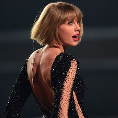 "Taylor Swift performing ""Out Of The Woods"" at The 58th Annual Grammy Awards 2016 in Los Angeles, CA. on February 15, 2016."