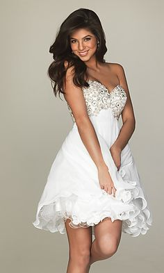 High Low White Party Dress, High Low Prom Dress | Receptions, The ...