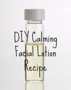 DIY Calming Facial Lotion Recipe For Sensitive Skin