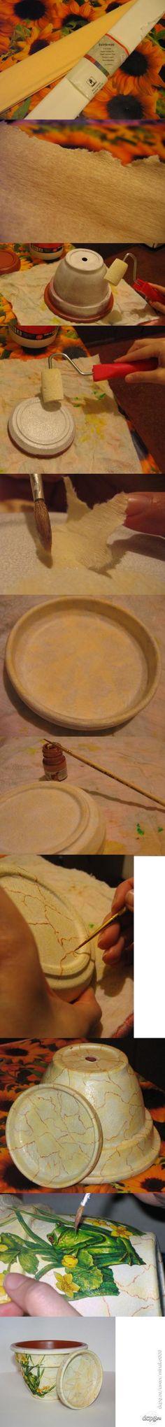 Декупаж - Сайт любителей декупажа - DCPG.RU | Декорирование керамического горшка