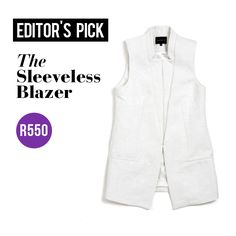 Our pick for #workwear Monday? This sleeveless blazer - the outfit options are endless with this gem!