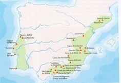Algunos yacimientos del neolítico peninsular Montserrat, Bullet Journal, Map, Historia, Entrance Halls, Location Map, Maps