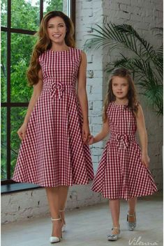 Once upon a time little girls were expected to sit quietly, watching their brothers play but not joining in. Fortunately those days are gone and littl. Mom And Baby Dresses, Mommy And Me Outfits, Kids Outfits, Girls Dresses, Summer Dresses, Mom And Daughter Matching, Mode Lolita, Mother Daughter Fashion, Frock For Women