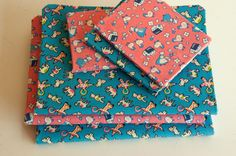 Aesthetic Nest: Craft: Fabric-Covered Composition Books (Tutorial)