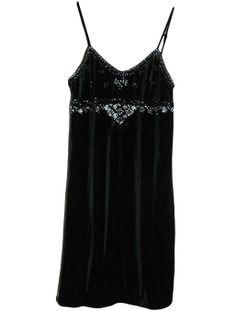Amazon.com: Ralph Lauren Denim & Supply Women's Spaghetti Strap Beaded Black Velvet Dress (Small): Clothing