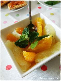 citrus salad and mint tea