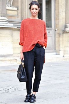 sweater and cropped pants
