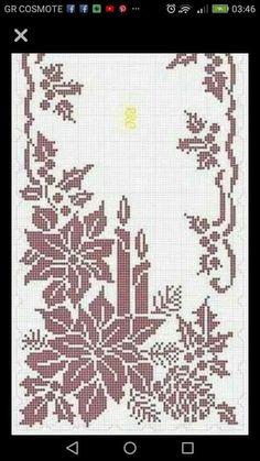 Crochet Table Runner Pattern, Crochet Tablecloth, Afghan Crochet Patterns, Embroidery Patterns, Crochet Cross, Filet Crochet, Crochet Motif, Diy Crochet, Thread Crochet
