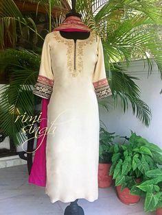Are women fashion style statement just about wearing women fashion clothing? Punjabi Fashion, Ethnic Fashion, Indian Fashion, Pakistani Dresses, Indian Dresses, Indian Outfits, Hand Embroidery Dress, Embroidery Suits, Indian Attire