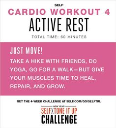 Stay active, but give your body time to heal and repair! #SELFTIU