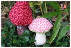 champignon d'automne en tissu Récréatys, création Ruban et Ribambelle | Mercerie Créative - Couture Facile I Paritys