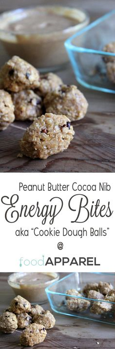 Peanut Butter and Cocoa Nib Energy Bites. I've died and gone to heaven!