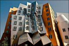 Frank Gehry building at MIT in Cambridge, Massachusetts.