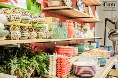 Anthropologie Los Angeles, retail inspiration, store styling, colourful eclectic style, glasses