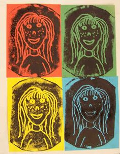 Create Art With Me!: Printmaking: Warhol Self Portraits