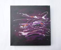 """Spachtelbild """"Bewegung"""" Acrylmalerei auf Leinwand 3D Keilrahmen, handgemaltes Original von Salabrin auf DaWanda.com"""